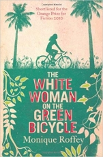 White Woman on a Green Bicycle